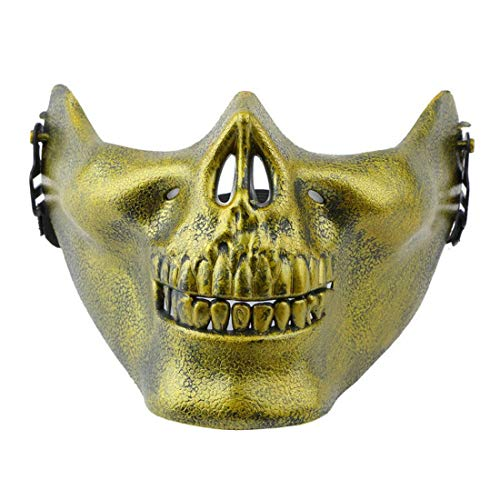 ace Skull Mask Halloween Scary Masquerade Terror Masks for Adults,Gold (Gold) ()