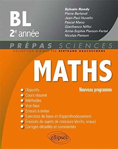 Maths BL 2e Année Programme 2014