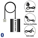 SAXOBUY Bluetooth USB AUX Musik Adapter mit Freisprecheinrichtung inkl. Mikrofon + Kabelfernbedienung für Mazda 2, 3, 5, 6, 323, 626, Demio, Premacy, RX8, MX-5