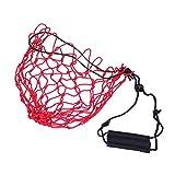 LIOOBO Bolsa de Red portátil con Bolsa de Malla Bolsa de Red Malla Baloncesto Balón de fútbol Bolsa de Red (Rojo)