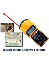 Medidor de distancias con ultrasonidos, puntero láser
