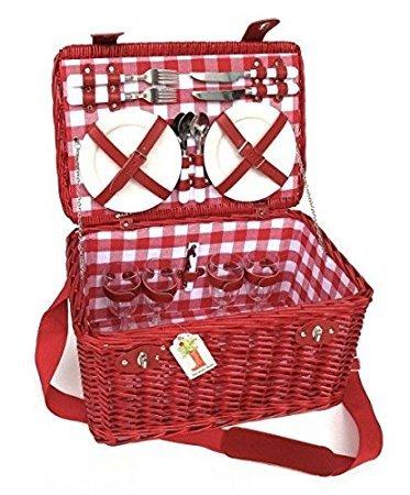 Klassischer Picknickkorb roja- berrie- für 4Personen