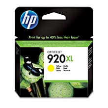 HP CD974AE 920XL High Yield Original Ink Cartridge, Yellow, Pack of 1