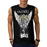 Valholl Viking War Nordic Life Men NEW Black White Grey Red Navy S-2XL Sleeveless T-shirt | Wellcoda