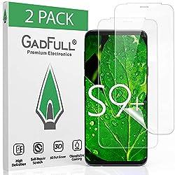 GadFull 2 Stück HD Displayschutzfolie für Samsung Galaxy S9 Plus | High Definition 3D, vollständige Abdeckung, Schutzffolie zur Selbstreparatur