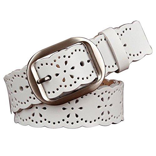 Moda Cintura da Donna,Signora Hollow Stile PU pelle Cintura Fibbia