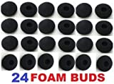24 Pack Foam Earbud Earpad Ear Bud Pad Replacement Sponge Covers for Earphone, MP3 MP4 Ipod Iphone Itouch Ipad Headsets. Gadgetbrat TM-USA