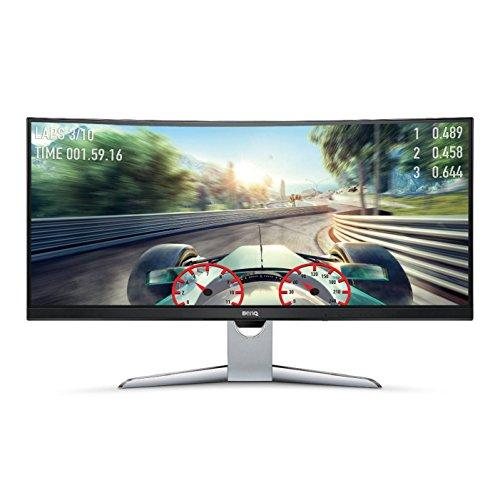 BenQ EX3501R 35-inch Ultra WQHD Curved Monitor, Video Enjoyment, HDR, 21:9, 3440 x 1440, VA, FreeSync, 100 Hz, USB Type-C,...