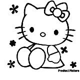 Hello Kitty 20 cm x 20 cm, erhältlich in 18 Farben, Kinderzimmer Kind-Raum-Aufkleber Auto Vinyl, Fenster und Wand Aufkleber, Wand Windows-Art ThatVinylPlace Wandtattoo,