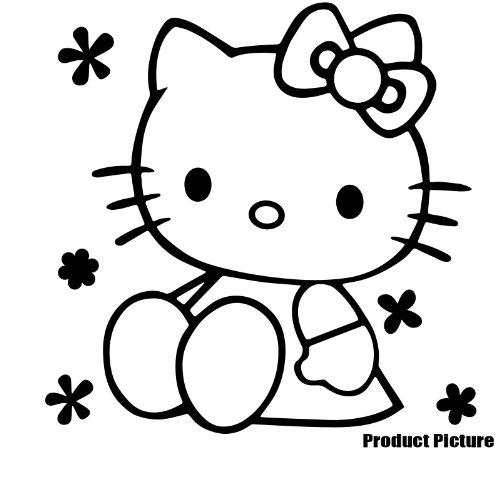 Hello Kitty 20 cm x 20 cm, erhältlich in 18 Farben, Kinderzimmer Kind-Raum-Aufkleber Auto Vinyl, Fenster und Wand Aufkleber, Wand Windows-Art ThatVinylPlace Wandtattoo, (Hello Kitty Window Decal)