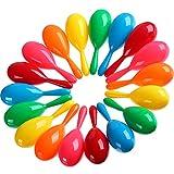 30 Pezzi Maracas Colorate Maracas Festività Maracas di Plastica Giocattoli Maraca Piscina Giocattoli Rumore-Fabricazione per Festa Favori o Strumenti Musicali, 6 Colori