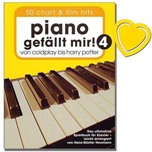 Piano gefllt mir. Volume 450Chart et film Hitsde Coldplay  Harry PotterLe livre ultime Jeu pour homme de Piano de Hans Gnter foin (avec color Cur Note Pince)