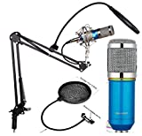 Techtest Studio Microphone Bm 800 Condenser With Mic Stand And Pop Filter For