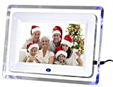 "DIGIFLEX 7"" Digital Photo Frame High Resolution with Blue Backlight + 8GB SD Memory Card & Remote Version 2"
