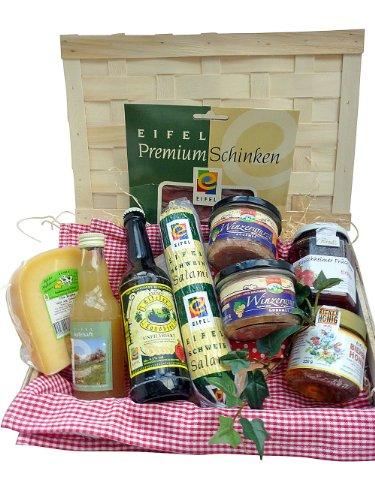 Vatertag Präsentkorb -Deftige Landpartie- mit Produkten aus der Eifel (Achtung, Produkt enthält Alkohol, Verkauf nur an Personen über 18 Jahre !)