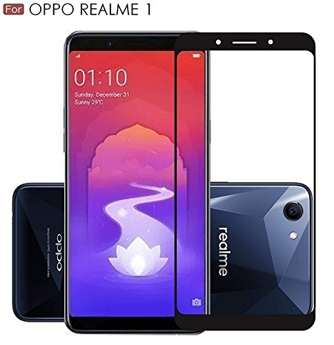 JUMP START Presents Realme 1(2018 New Launch) Screen Protector, Full Coverage Anti-Scratch, Anti-Fingerprint, Bubble Free 3D Protection Tempered Glass Screen Protector (Black)