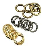 Sharplace Karabinerhaken aus Zinklegierung, runde Ringe, federbetätigt, 18 Stück