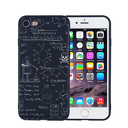 iPhone 7 iPhone 8 Hülle, FACEVER lustige Chemie-Mathe-Formel Schlank Anti-Fingerabdruck Handytasche für iPhone 7/8, 4.7 Zoll -Chemie 01