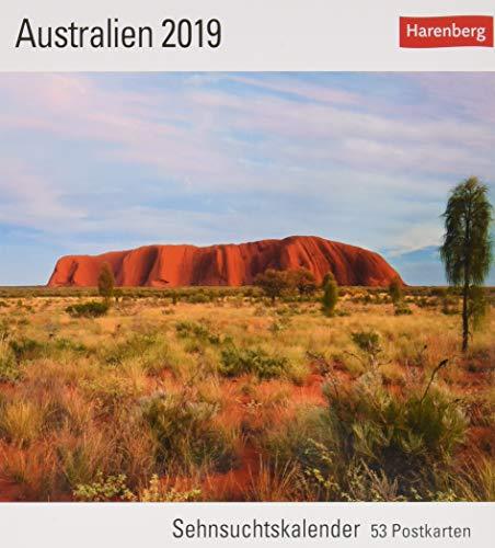 Preisvergleich Produktbild Australien - Kalender 2019: Sehnsuchtskalender,  53 Postkarten