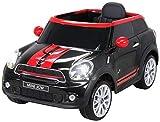 Actionbikes Motors Kinder Elektro Auto Mini Cooper Paceman John Cooper Works Kinderauto Elektroauto Lizenziert 2 x 45 Watt Motor (Schwarz)