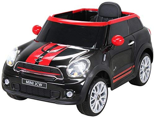 RC Auto kaufen Kinderauto Bild: Actionbikes Motors Kinder Elektro Auto Mini Cooper Paceman John Cooper Works Kinderauto Elektroauto Lizenziert 2 x 45 Watt Motor (Schwarz)*