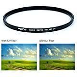MECO Optical 77MM HD-MC-UV Filter - Multi-coated, 99.8% Light Transmittance, Anti-fingerprint, Ultra Slim, Aluminum Frame, Optical Glass Ultraviolet Protection Filter