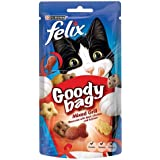 Felix Goody Bag Mixed Grill Cat Treats Flavoured with Beef Chicken and Salmon, 60g