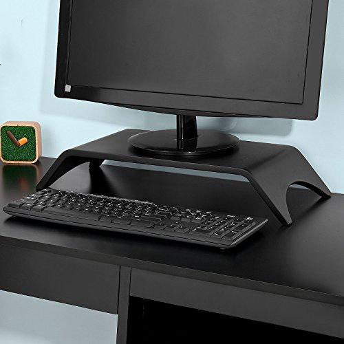 SoBuy® FRG98-SCH Monitorständer Monitorerhöhung Bildschirmerhöher Tischaufsatz in schwarz, BHT ca: 52x9x22cm 22 Cm Computer-bildschirm
