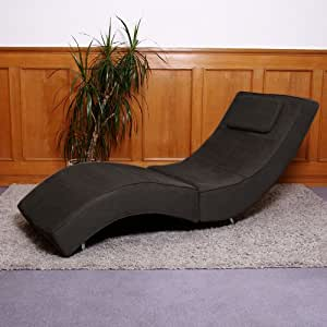 chaise longue fauteuil lounge livorno tissu microfibre. Black Bedroom Furniture Sets. Home Design Ideas