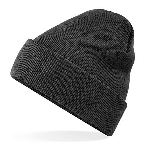 Premium Wintermütze Mütze schwarz Beanie für Winter, Strickmütze, Seemannsmütze, Docker cap, Herrenmütze, Wollmütze Herren & Damen, unisex von TK (Kostüm Baby Biker)