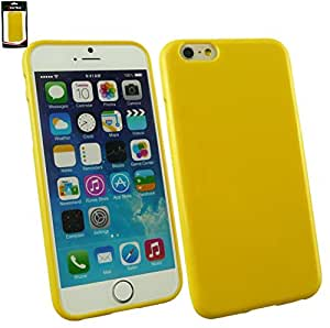 Emartbuy® Shiny Gloss Gel Skin Case Cover Yellow for Apple iPhone 6 6G 6S 4.7.