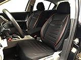 Sitzbezüge K-Maniac für FIAT Tipo Kombi | Universal schwarz-rot | Autositzbezüge Set Vordersitze | Autozubehör Innenraum | Auto Zubehör Kunstleder | V2412341 | Kfz Tuning | Sitzbezug | Sitzschoner