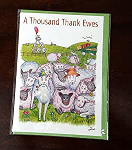 thank you card a thousand thank ewes a compost character greeting card ref440. Black Bedroom Furniture Sets. Home Design Ideas
