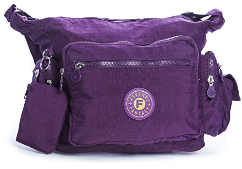 Big Handbag Shop, Borsa a tracolla donna One Deep Purple