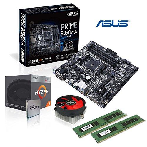 Memory PC Aufrüst-Kit Bundle AMD Ryzen 3 2200G 4X 3.6 GHz, 16 GB DDR4, ASUS B350M-A, fertig montiert und getestet