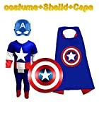 #7: Complete Captain America costume Set kids halloween Cosplay Carnival costumes for children | Fancy Dress Competition | B'day Party | Birthday Gift | B'day gift | Superhero cape
