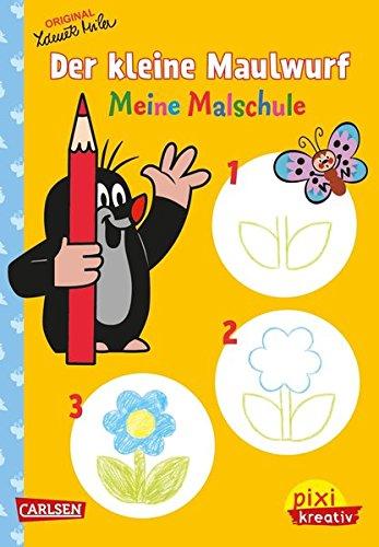 Preisvergleich Produktbild Pixi kreativ 75: Der kleine Maulwurf: Meine Malschule: Malen lernen ab 3 Jahren