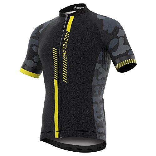 4Ucycling Fahrradtrikot Kurzarm für Herren Cycling Jersey Radtrikot T Shirt Radsport