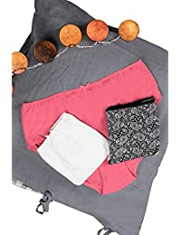 Ulla Popken Femme Grandes tailles Lot de 3slips pour femme en coton Coton Bikini Culotte Lingerie 714165