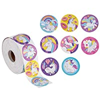 Blue Panda 1000 Unicorn Stickers All 8 Styles Included - 3.8 centimeters (1 Roll)