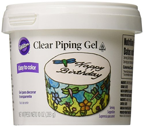 Cake Decorating Gel (Wilton 704-9987 Clear Piping Gel Cake Cupcake Treat Writing Decorating Glue 10oz)