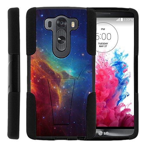 turtlearmor | LG V10Fall | LG G4Pro Case [Gel Max] Hybrid Dual Layer Hard Shell Ständer Silikon Fall -, Colorful Nebula Galaxy