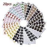 20 Blätter 14 Farben Fotoecken Selbstklebend für DIY Scrapbook