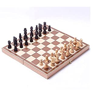 ALLtree Classic Wooden International Chess Set Board Game Foldable 34cm x 34 cm