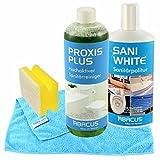 Bagno-detergente-Set(PROXIS PLUS & SANI white) - per sanitari detergente per sanitari + accessori + lucidatura concentrato --- Bagno cleaner purga latte WC-detergente per bagno-detergente