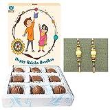 Bogatchi Rakhi Gift Hamper with Chocolates for Brother, 90g