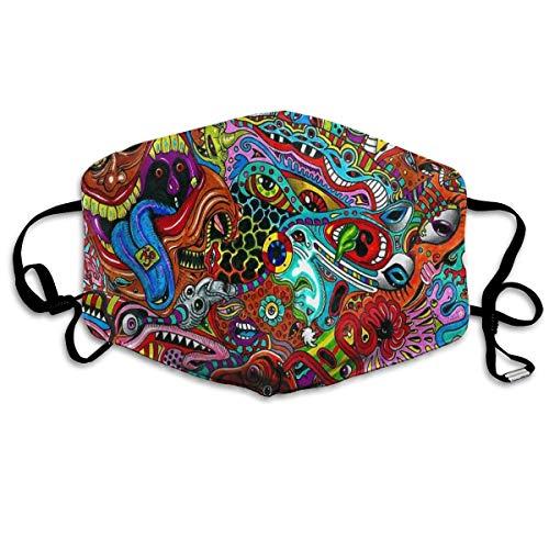 HUSDFS Mouth Maske Psychedelic Mess Printed Mouth Maske Unisex Anti-dust Masks Reusable Face Mask