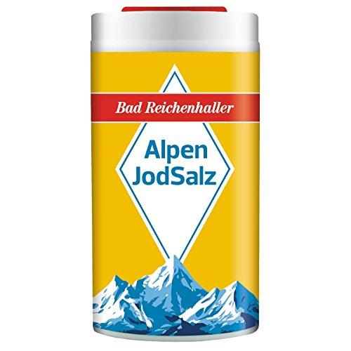 Bad Reichenhaller 10 Stück Alpenjodsalz Ministreuer je 10g Jodsalz Speisesalz