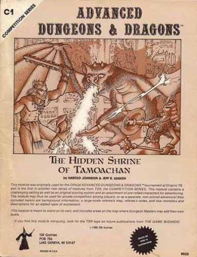 Hidden Shrine of Tamoachan (Advanced Dungeons and Dragons, Module C1) by Harold Johnson