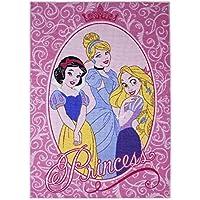 Associated Weavers 614568 Tapis Disney Princesses Glamour Polyamide Rose 133 x 2 x 95 cm